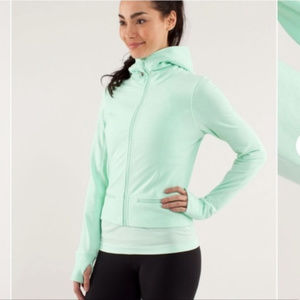 LULULEMON Mint Green Full Zip Hoodie sweater sz 8